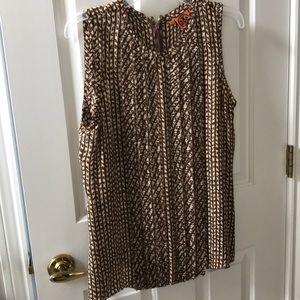 Tory Burch sleeveless blouse sz 12